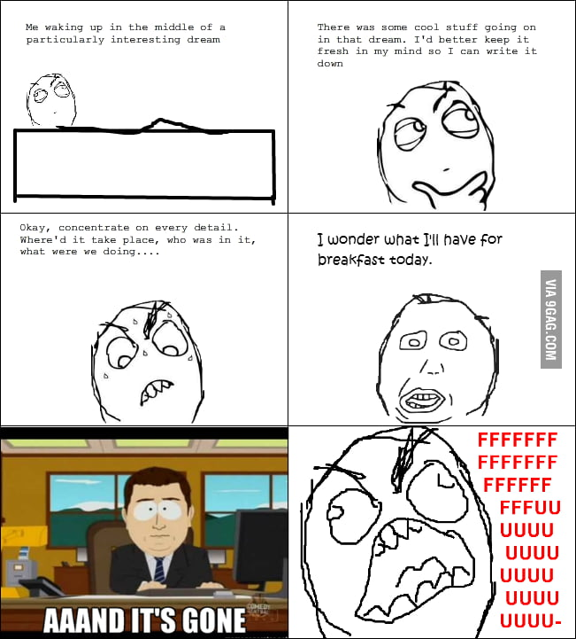 Every time I have an interesting dream...