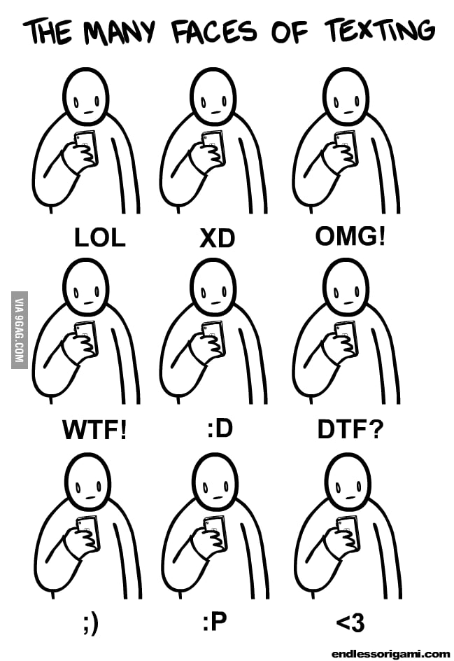 The many face of texting
