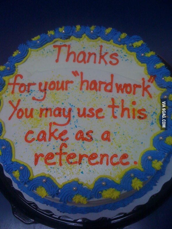 Co-worker's going away cake.