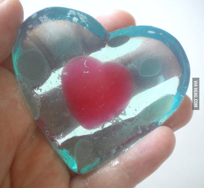 Legend of Zelda heart container soap