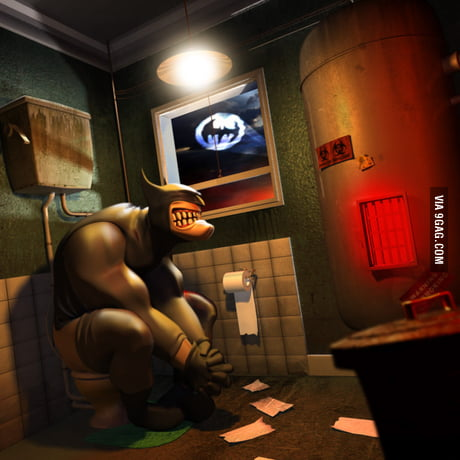 Image result for Batman taking a dump