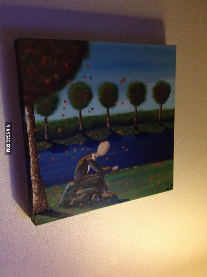 This painting has been in the living room for years