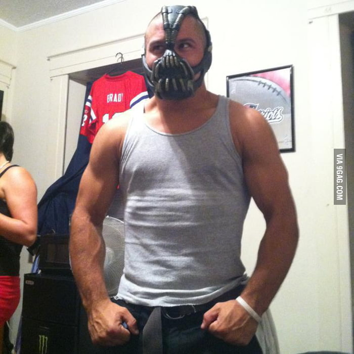 He got a Bane mask for his birthday.. can he pull it off?