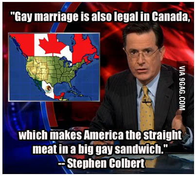 Gay marriage is also legal in Canada