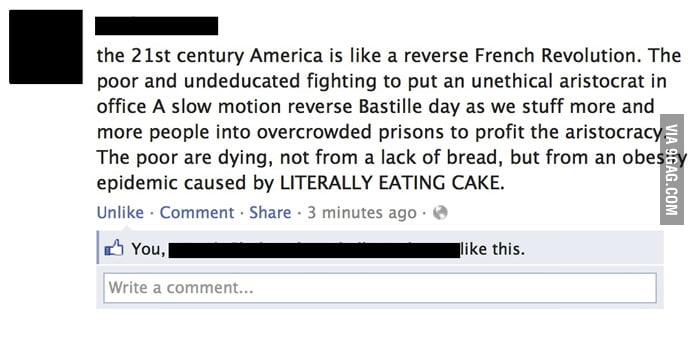 21st century America is like a reverse French Revolution