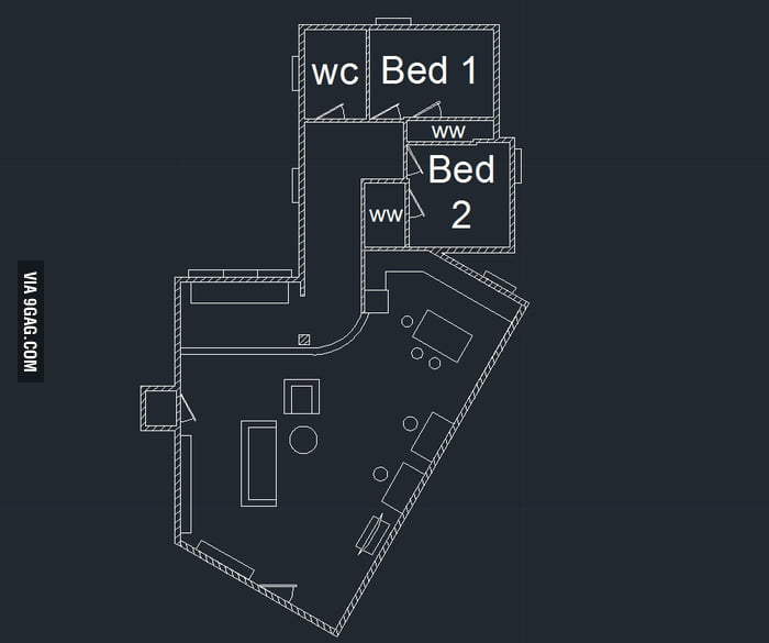 TBBT Leonard and Sheldon's apartment layout