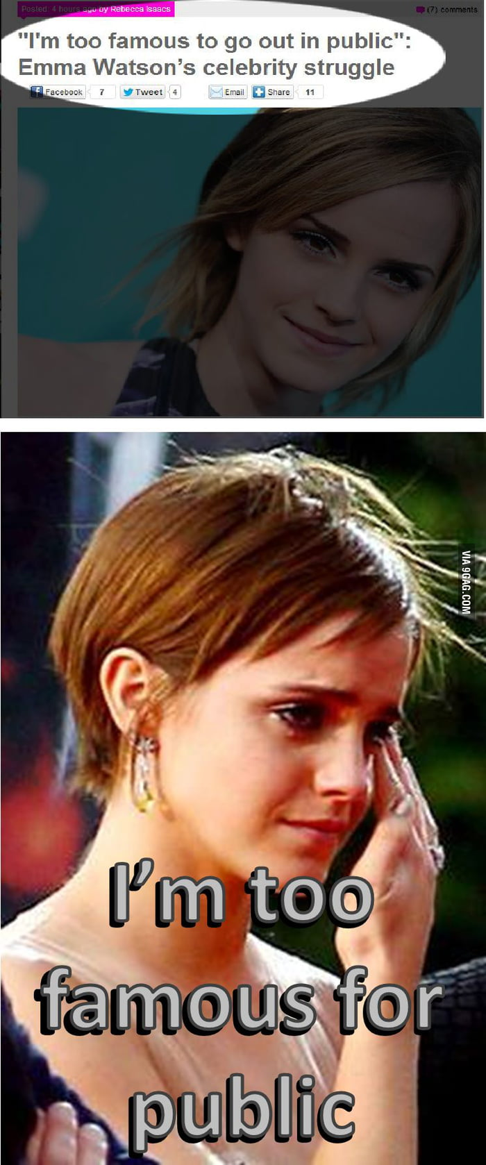 First world Emma Watson problems