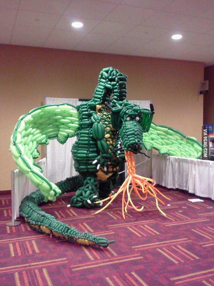 A balloon dragon