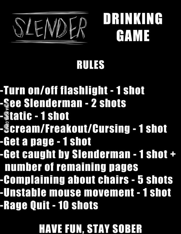 Slender Drinking Game 9gag