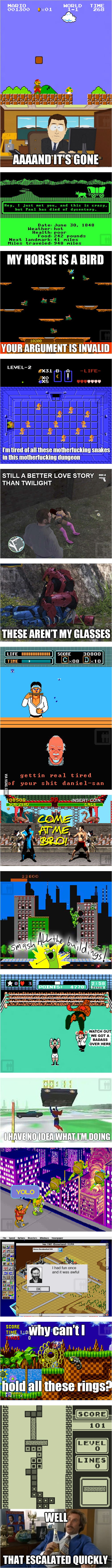 Classic Video Games Make Pop Culture Jokes