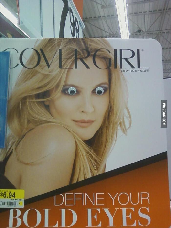 Walmart's makeup aisle...