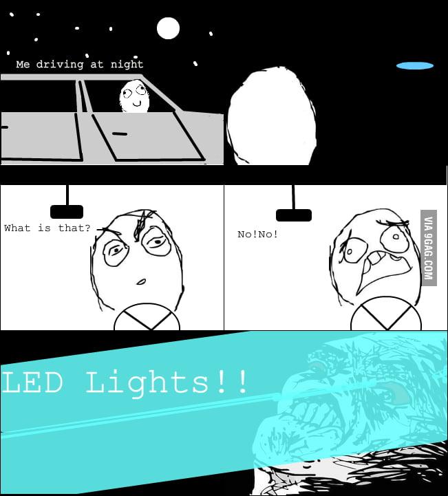 Night driving rage