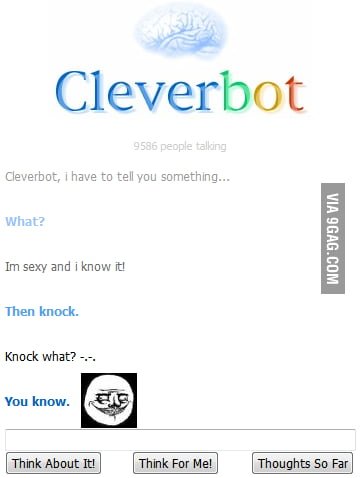 Cleverbot, you dirty son of a b*tch...