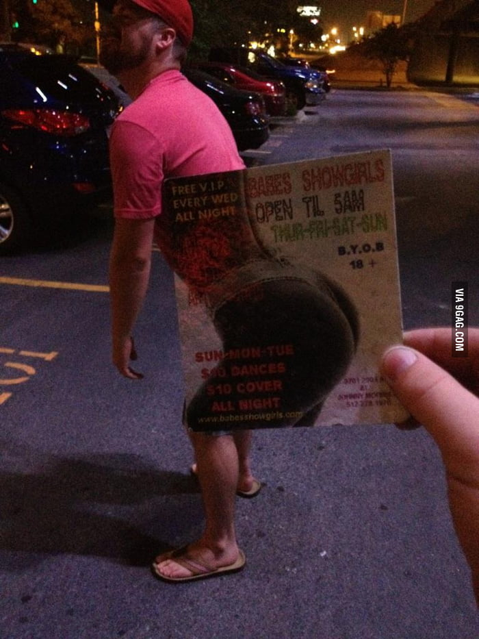 Found a strip club advertisement on the ground and...