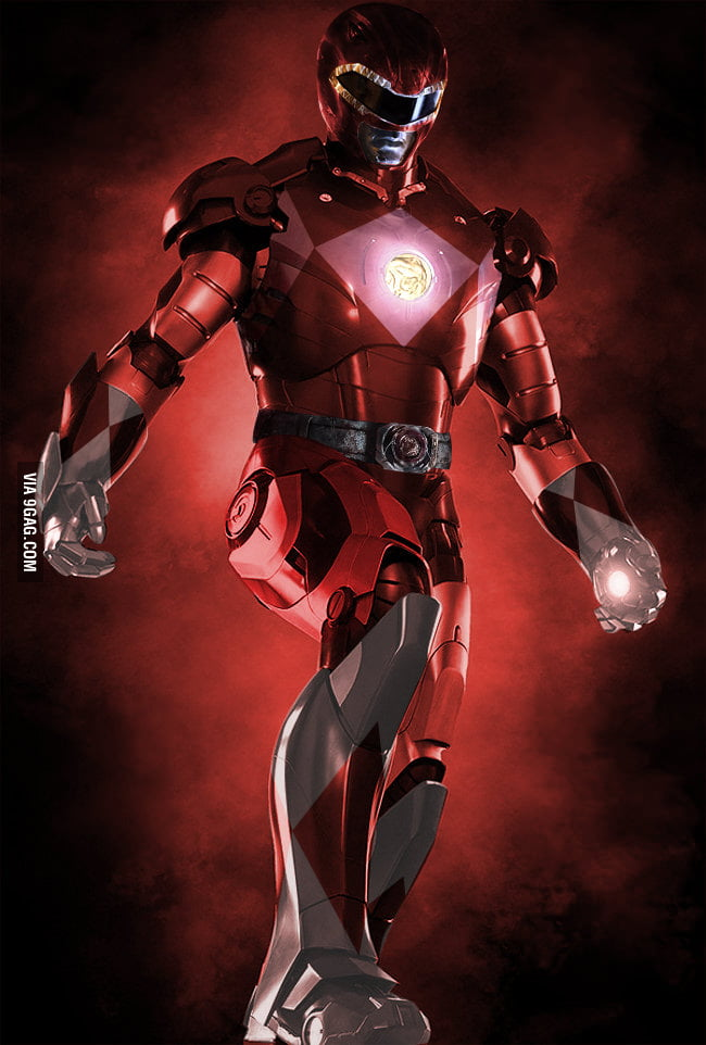 Iron Man x Red Power Ranger