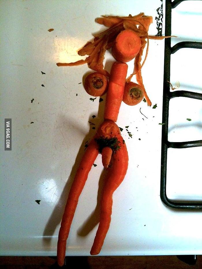 I made a carrot man!