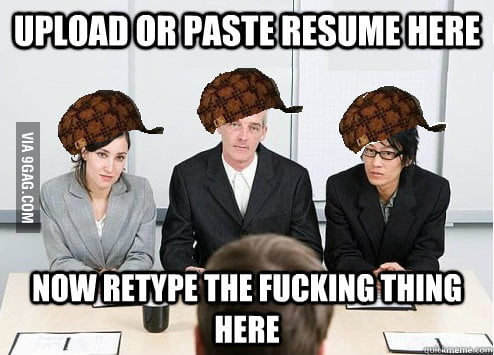 Every time when I apply for a job...