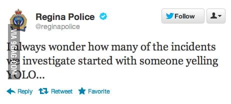Humorous Police Tweet