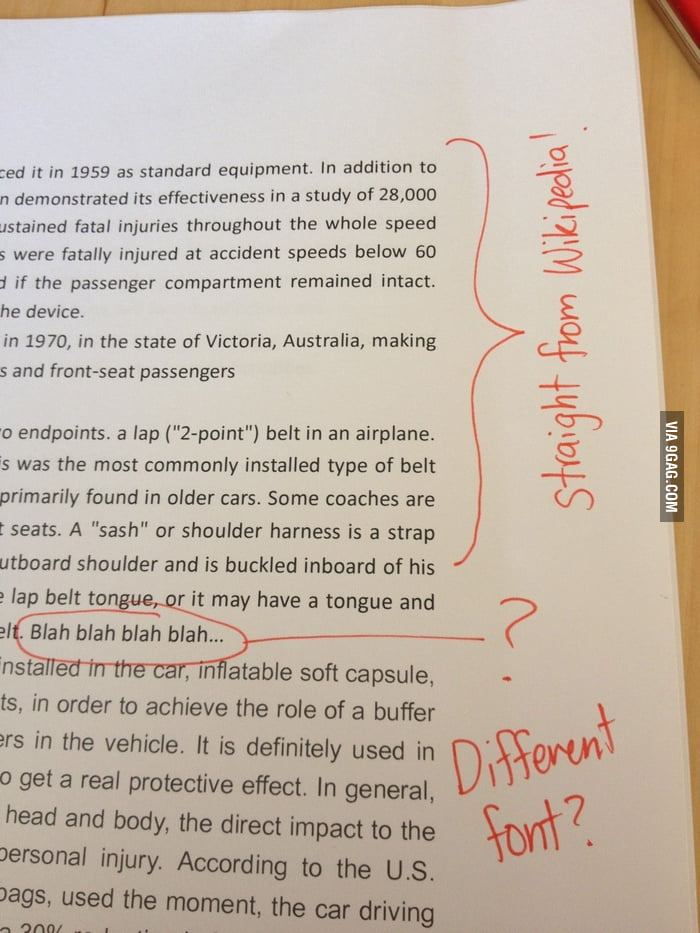 An assignment by a physics student.