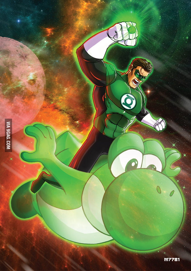 I always think that Green Lantern and Yoshi is a good match!