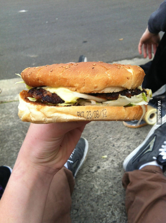 So I orded a burger today...