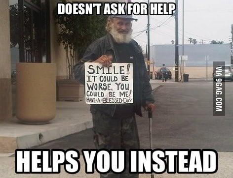 Good Homeless Guy
