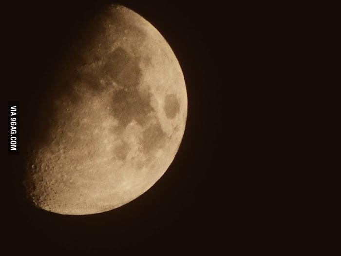 The Moon Tonight. RIP Neil