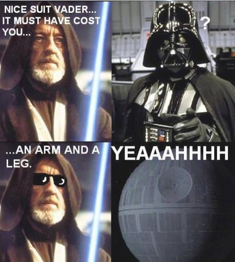 Nice suit, Vader.