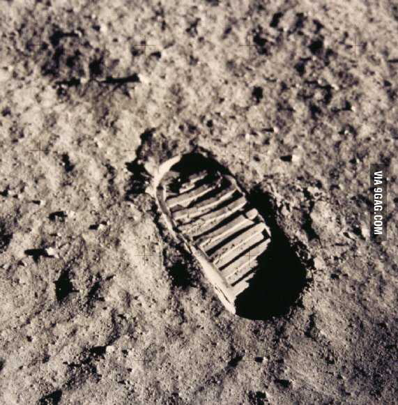 Probably the most important step/footprint in human history.
