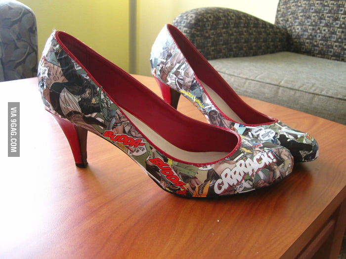 Awesome comic book heels!