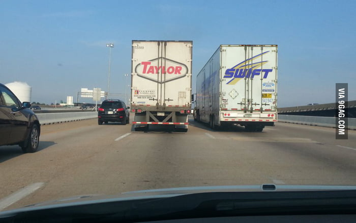 Just saw Taylor Swift on the road!
