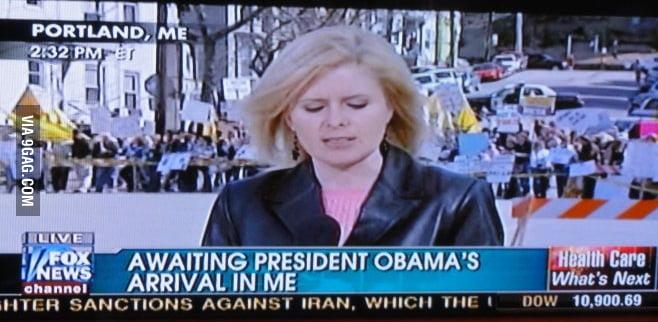 Awaiting president Obama's arrival in...