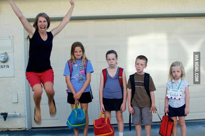 "Best ""back-to-school"" photo I've seen yet!"