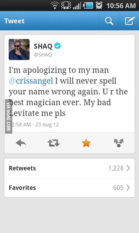 Shaq apologized