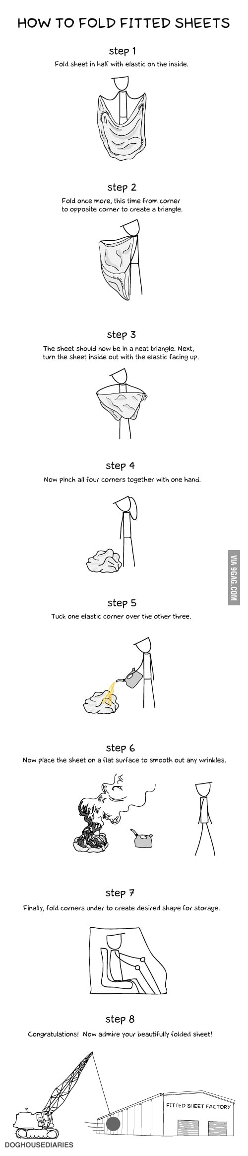 How to fold your fitted sheets