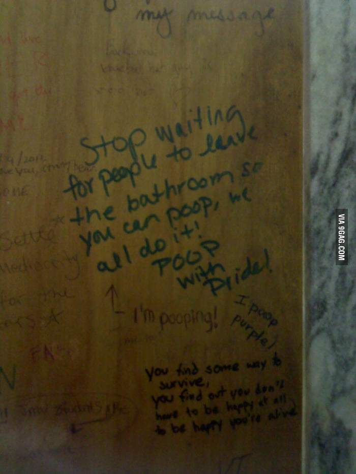 Wise words from the bathroom stall