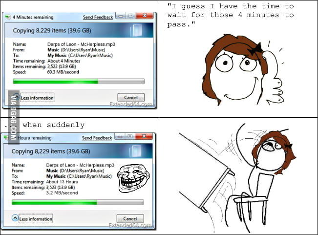 Copying files rage