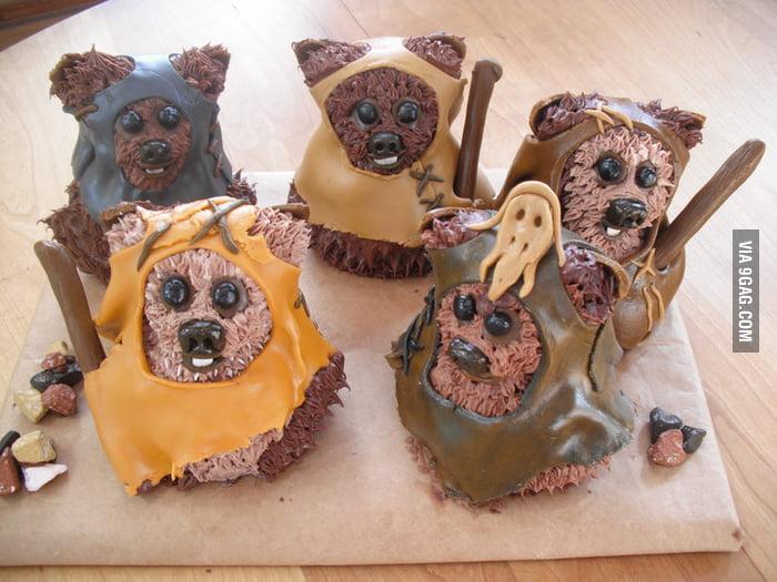Just Ewok Cupcakes