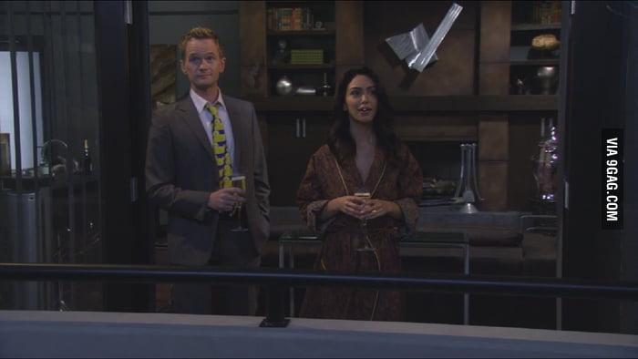Where's Barney's big screen TV?