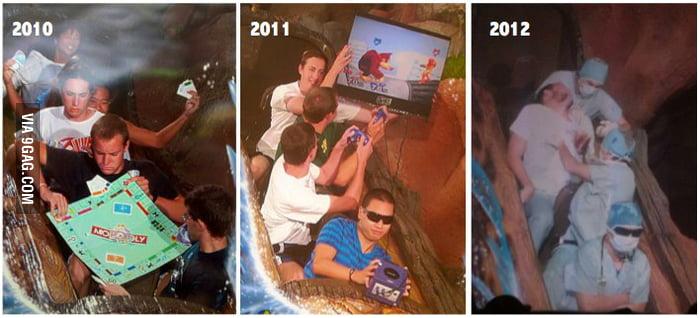 Splash Mountain pics from 2010 to 2012