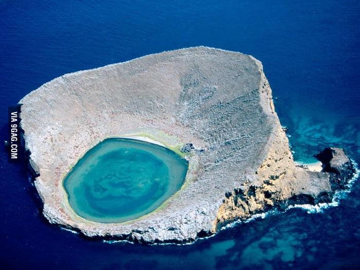 Blue lagoon, Ecuador