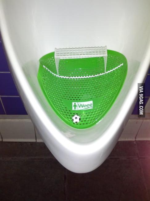 No wonder the guy in the bathroom yelled goooooooaaaallllll