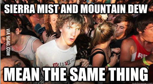 Sierra Mist and Mountain Dew