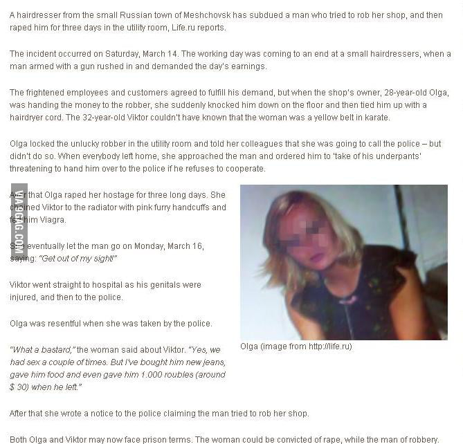 Russian Woman's Logic - 9GAG