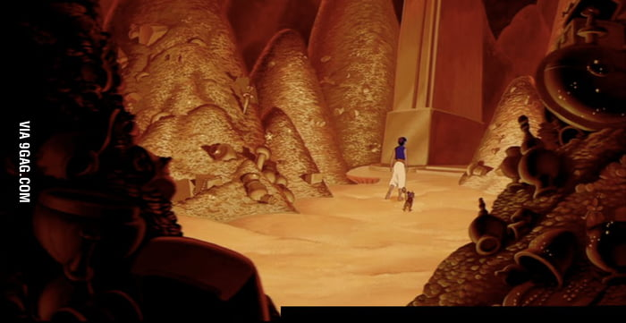 Aladdin found the Nintendo Wii in The Cave of Wonders!