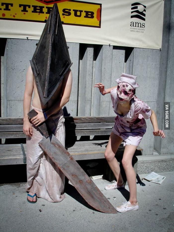 Pyramid head and Nurse (Silent Hill Series)