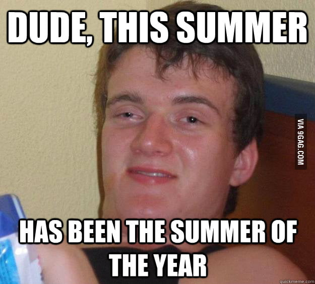 The summer of the year