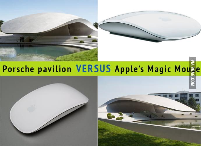 Porsche building looks like Apple's mouse? Sued!