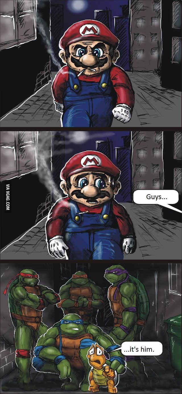 Meet Koopa's friends, Mario.
