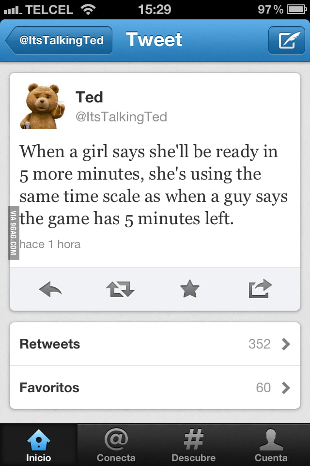 Time scale according to Ted